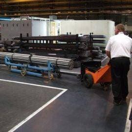 Moving 3000kg of steel bar