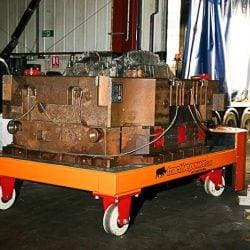 Moveing a 30,000kg die tool