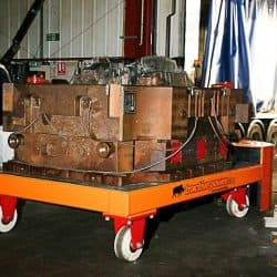 Moving a 30,000kg die tool with a burden carrier