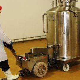 pedestrian pusher for the food industry