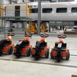 The TP500HD moves 42000kg rail carriages