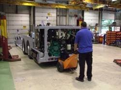 Moving bus chassis