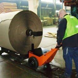 Moving rolls of corrugate