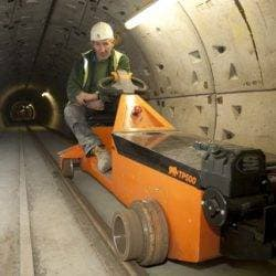 Railed electric tug TP500 in underground pipeline